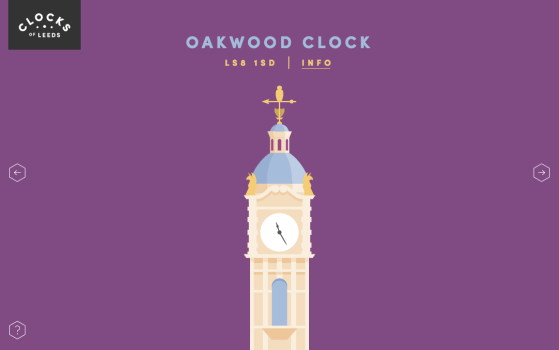single page clock website