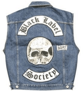 Satans Slaves MC Black Label Society Vest