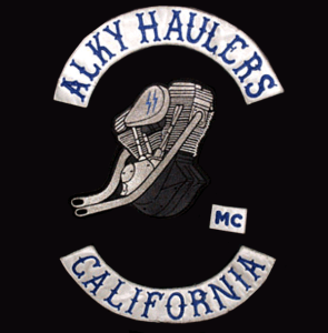 Alky Haulers MC patch logo