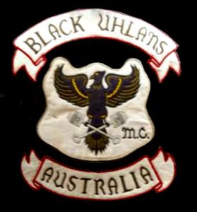 Black Uhlans MC patch logo