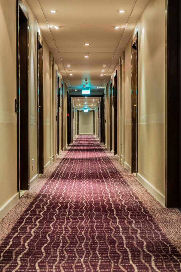 Hotel Corridor at the Crowne Plaza, Reading.