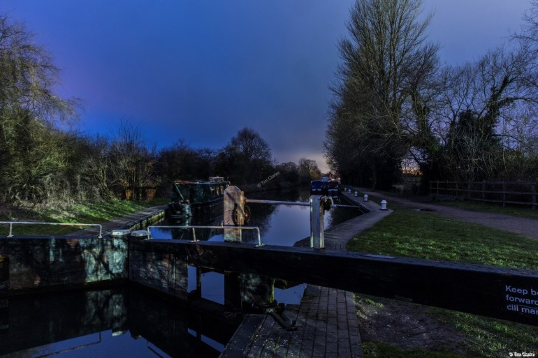 Padworth Lock: Looking west towards Aldermaston Wharf.