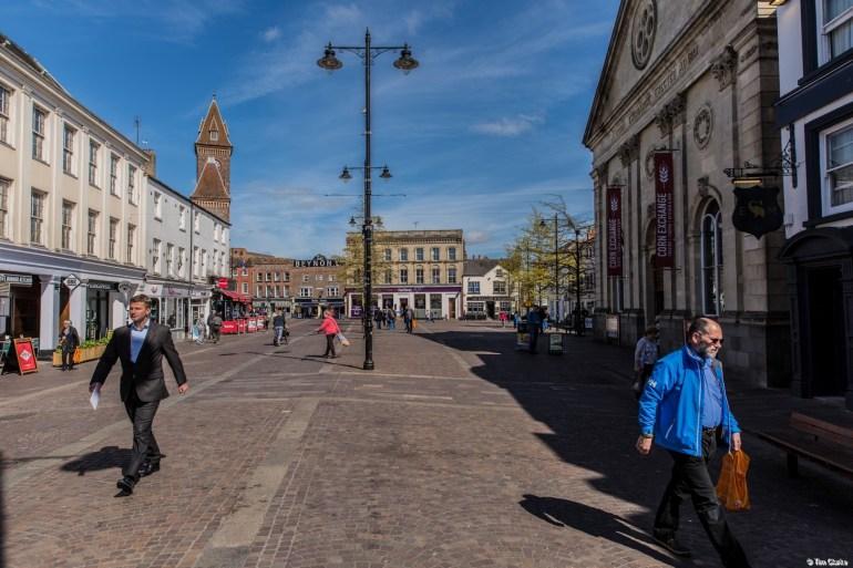 Market Place, Newbury, Berkshire: Pedestrianised shopping.