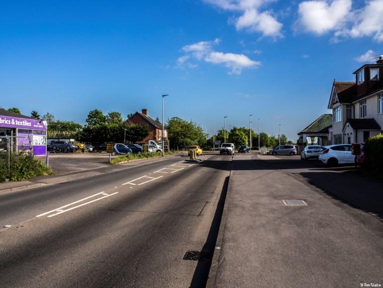 Newtown Road, Newbury: Looking South.