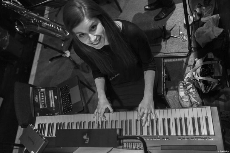 Orchestra Pit: Debbi on Lead Keyboard.