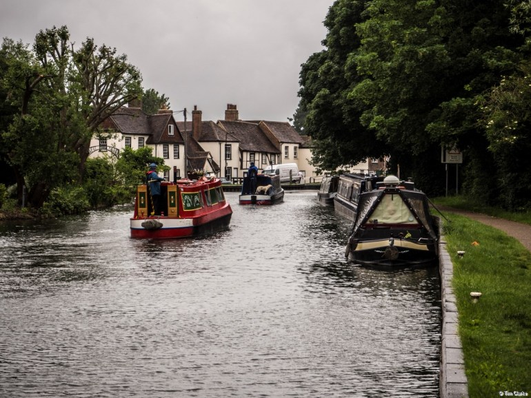 Cruising in the Rain: West Mills, on the Kennet & Avon Canal in Newbury.