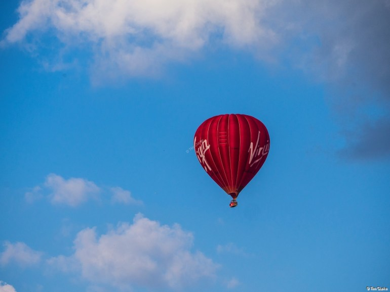 Hot Air Balloon: A burst of colour in the evening sky.