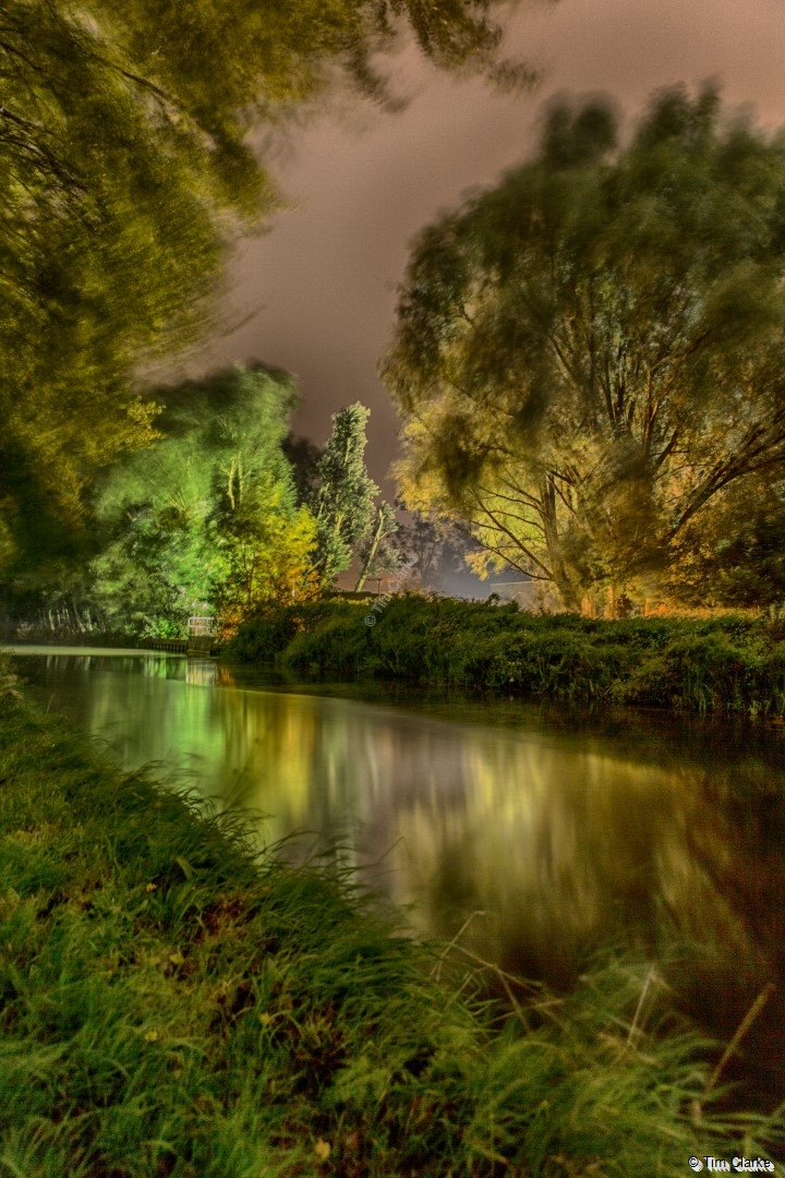 Illumination: Thames Water lighting up the Kennet & Avon Canal.