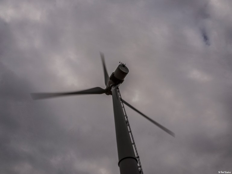 Wind Turbine: Generating power.