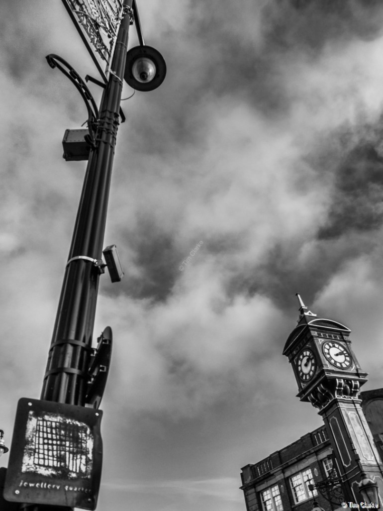 Chamberlain Clock, Birmingham. Iconic Landmark in the Jewellery Quarter.