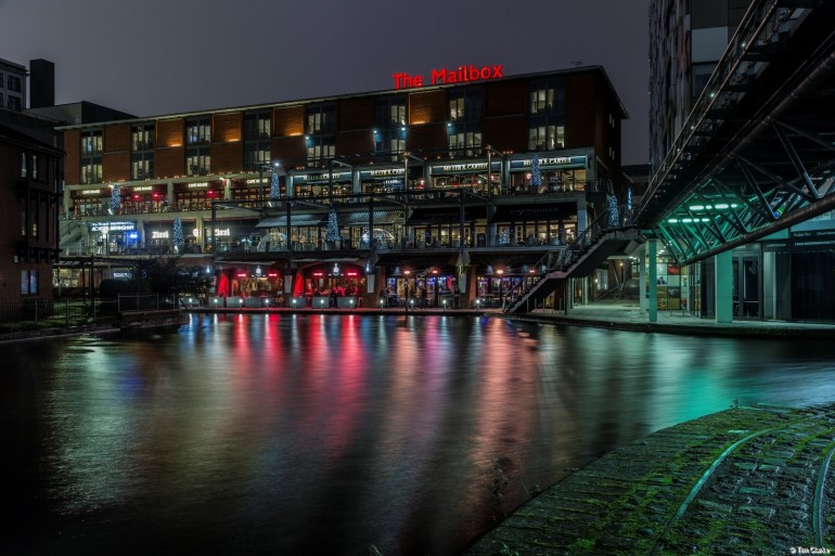 The Mailbox: Vibrant, colourful reflections.