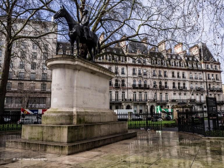 Ferdinand Foch Equestrian Statue, Grosvenor Gardens, Victoria, London