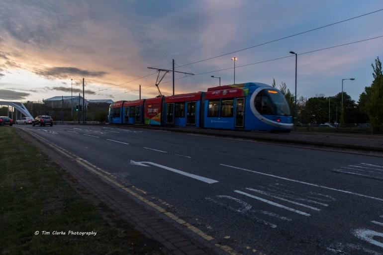 Midland Metro in Wolverhampton.