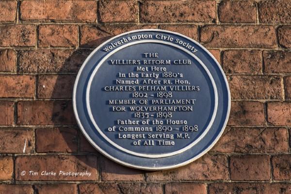 Villiers Reform Club Blue Plaque.