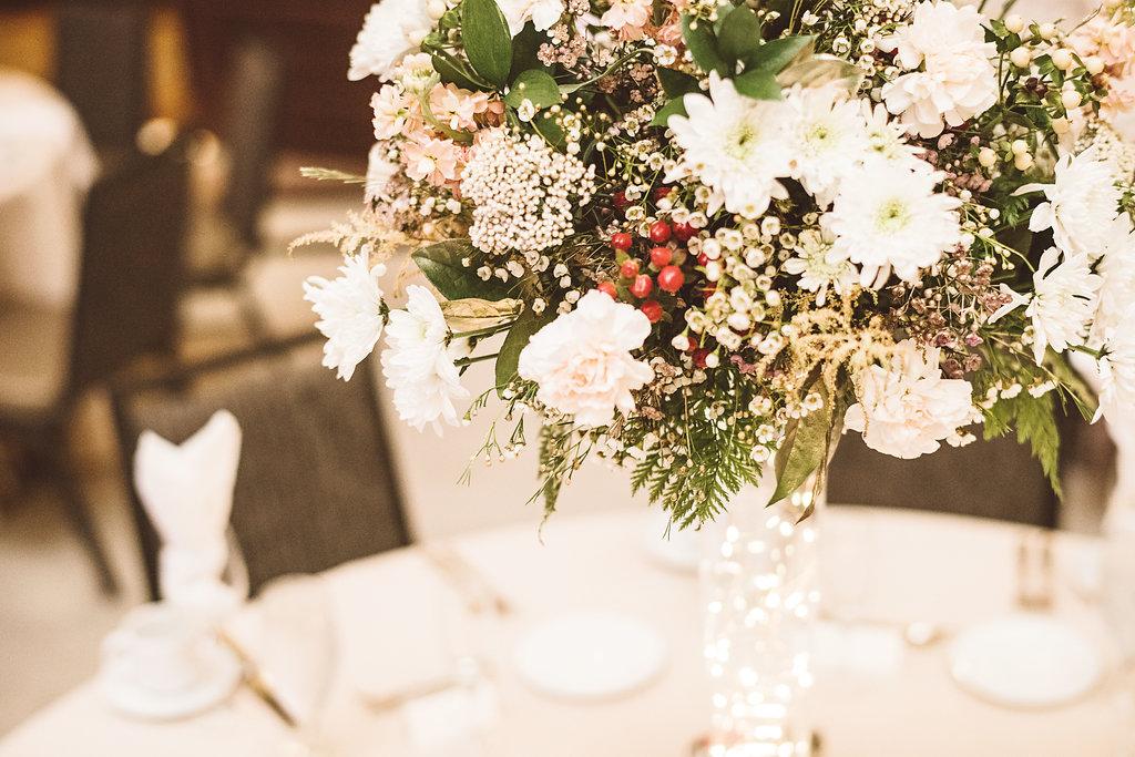 Blush to Burgandy Wedding Florals