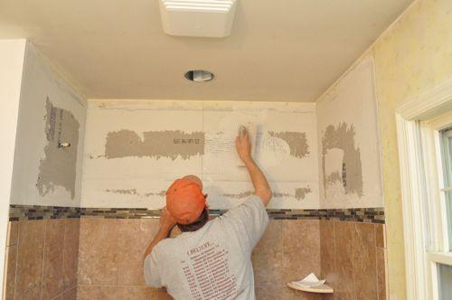 how to tile a bathroom, shower walls, floor, materials (100 pics