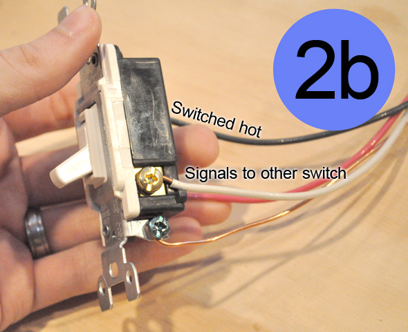 how to convert a regularswitched circuit to a 3way