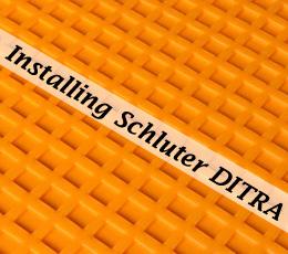 to install schluter ditra tile underlayment