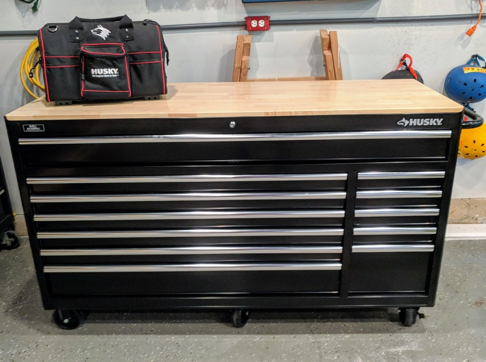 Husky Heavy Duty Tool Chest Workbench Review Model
