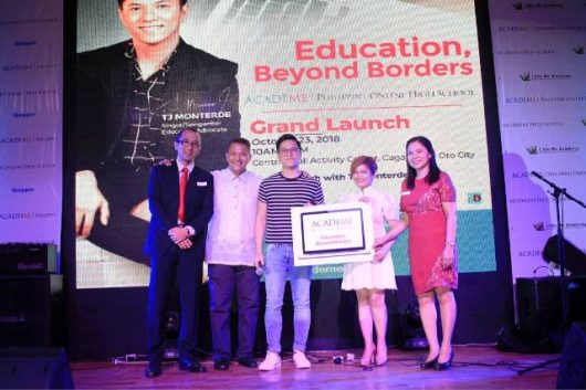 Academe Philippine Online High School Launched with TJ Monterde