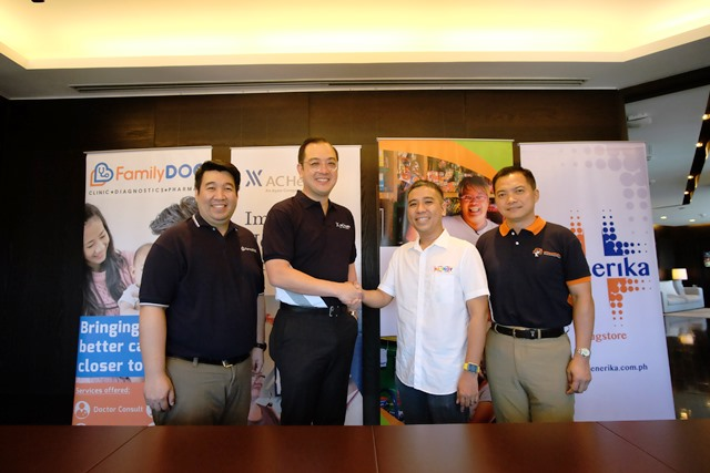 Ayala Healthcare with Generika, Family Doc partners with Hapinoy