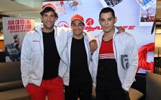 Philam Life Vitality Brand Ambassadors Nico Bolzico, Wil Dasovich and Mond Gutierrez