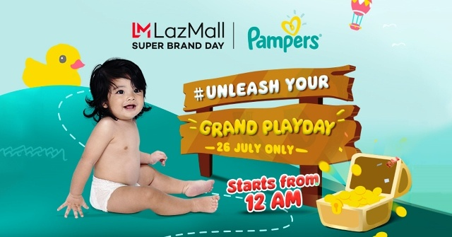 Lazada Super Brand Day Sale with Pampers