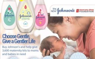 Johnson's and Mercury Drug #ChooseGentle