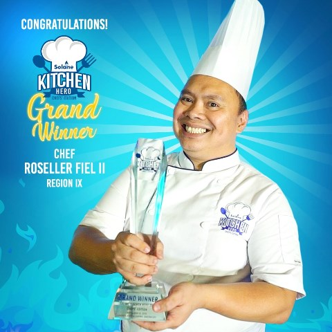 Solane Kitchen Hero Chefs Edition grand winner Chef Roseller Fiel II from region IX