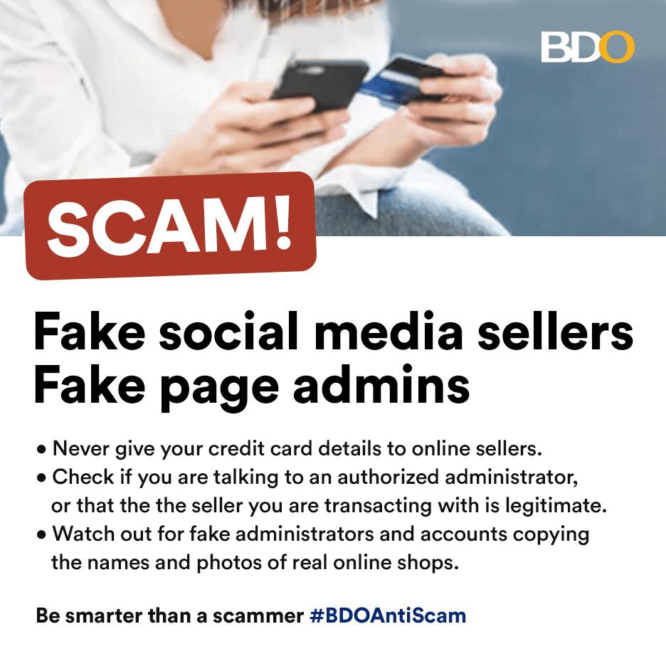 BDO warns against fake social media sellers