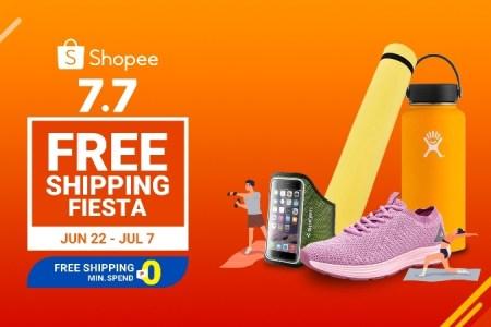 Shopee 7.7 Free Shipping Fiesta
