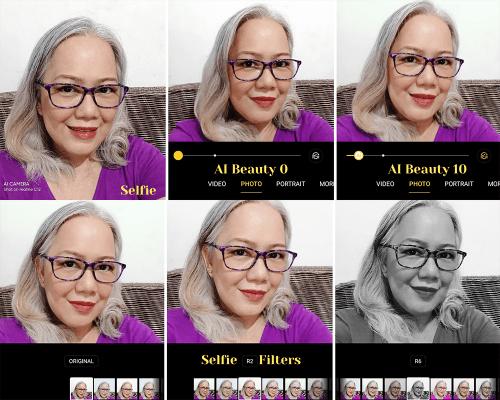 realme C12 Selfie AI Filters