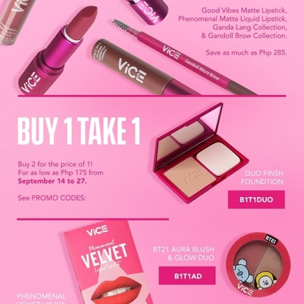 Vice Cosmetics 3rd GANDAnniversary on Shopee