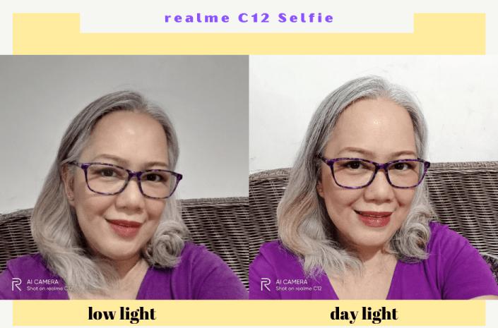 realme C12 Selfie