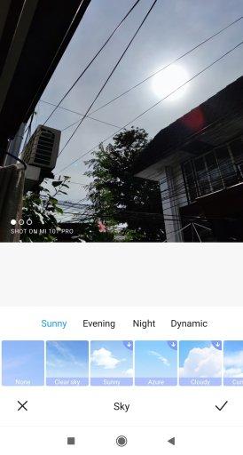 Mi 10T Pro Sky filter