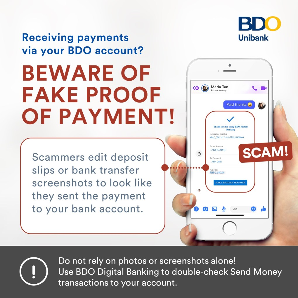 BDO Anti Scam - Proof of Payment