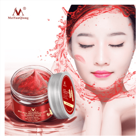 MeiYanQiong RED WINE BRIGHENING SKIN SLEEPING MASK