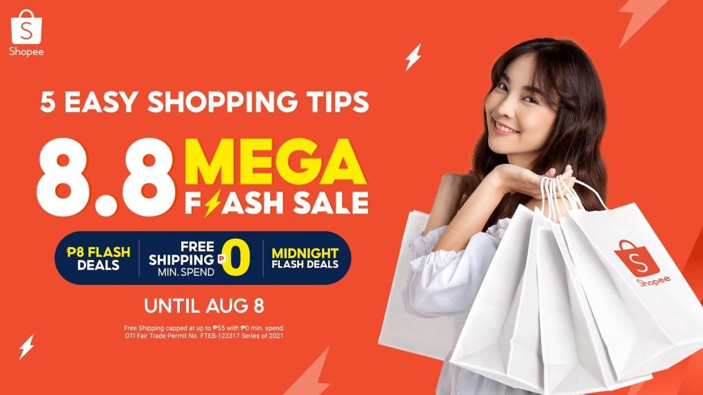 Shopee 8.8 Mega Flash Sale