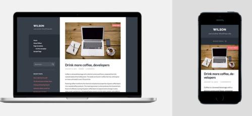 非常にシンプルなデザインのブログ向けレスポンシブテーマ「Wilson」
