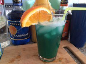 Fuzzy Leprechaun, green drink, pinch