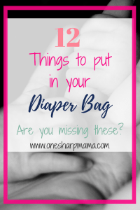 Find out the diaper bag necessities for your infant. What should I put in my diaper bag. Don't miss these items on your baby registry. #babyregistry #diaperbag #momlife #momming #parenting