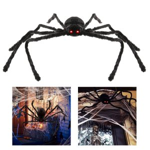 Halloween Decor, outdoor halloween decor, outdoor halloween decorations, halloween decorations, spider decorations, hanging spider, halloween spider