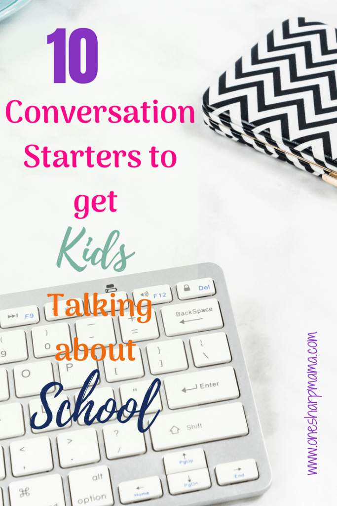 Sometimes trying to get children to open up isn't easy. With these ten ideas for conversation starters with your children can help you get more than a one word coversation going. Helpful parenting tips #backtoschooltips #parentingtips #getkidstalking