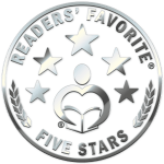 5 star Reader's Favorite - shiny metal stars