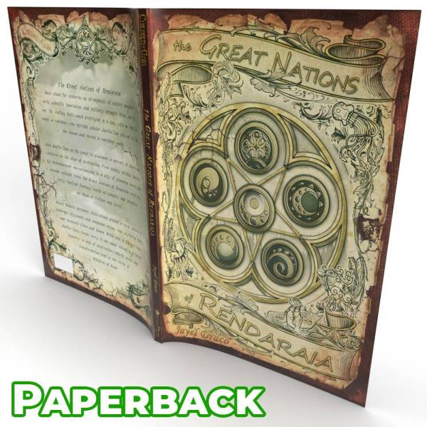 Children of Gaia: The Great Nations of Rendaraia - illustrated novel paperback book wrap around cover