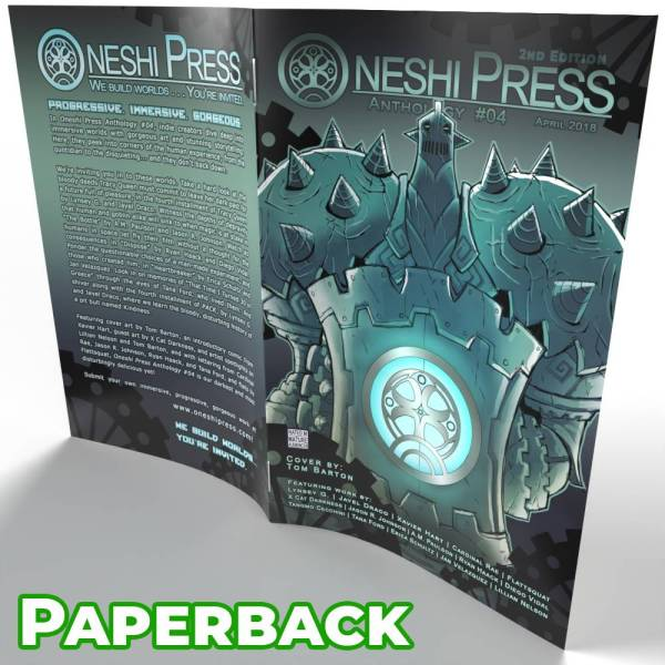 Oneshi Press Comics Anthology Number Four Paperback Cover Open