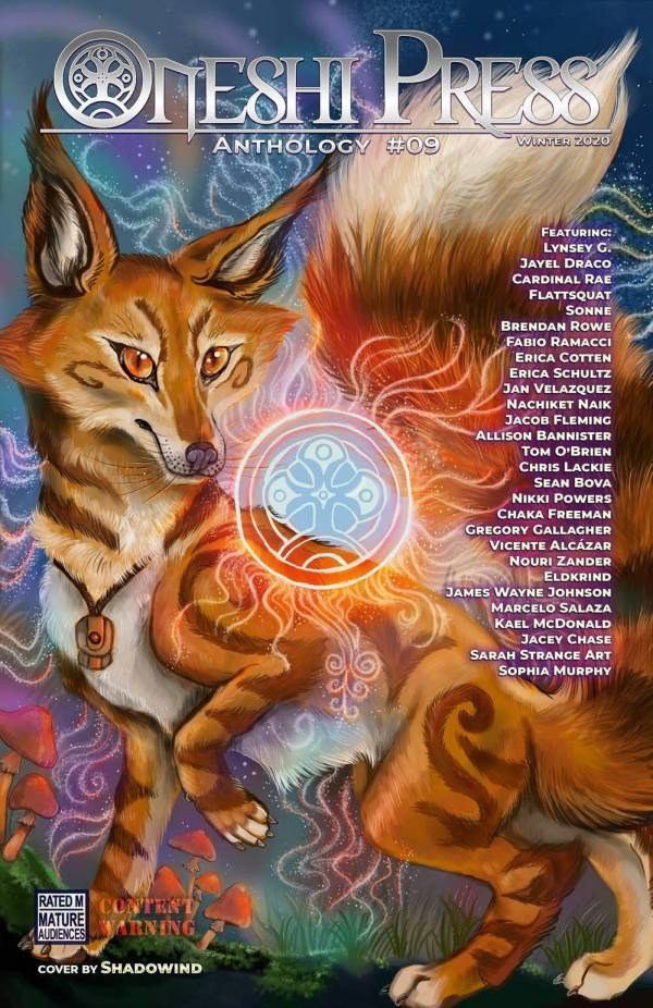 fox fantasy magical glowing comic book cover art shadowind oneshi press justice anthology