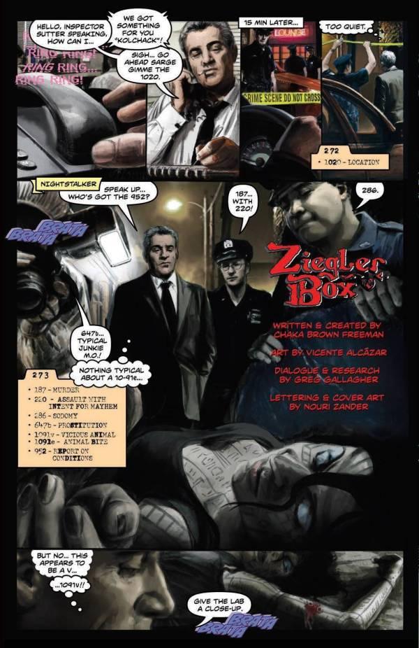 ziegler box part 2 crime homicide murder vampire chaka brown freeman vicente alcázar oneshi press justice anthology