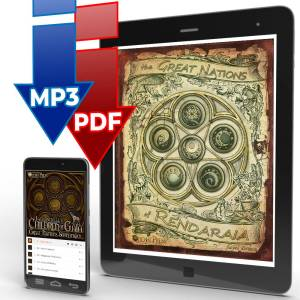 Children of Gaia: The Great Nations of Rendaraia book and album combo .pdf & .mp3 download bundle icon