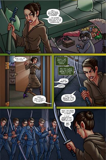 Tracy Queen Volume 2 page 6 - Free sample comicbook page